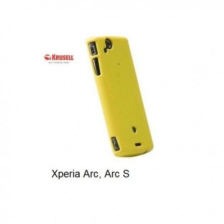 Etui za Sony  Xperia Arc ,Arc S,zadnji pokrovček,rumena barva,Krusell