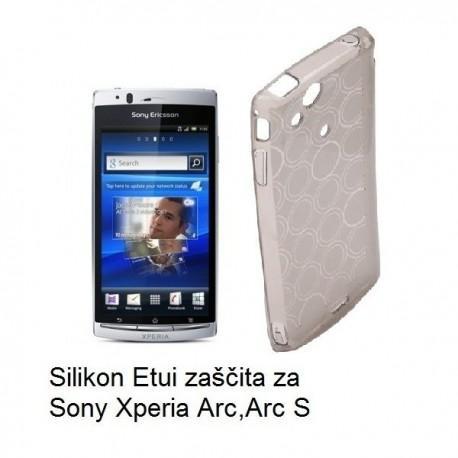 Silikon etui za Sony Xperia Arc,Arc S,prozorno siva barva,motiv krogci