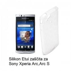 Silikon etui za Sony Xperia Arc,Arc S,prozorno mat bela barva,motiv krogci