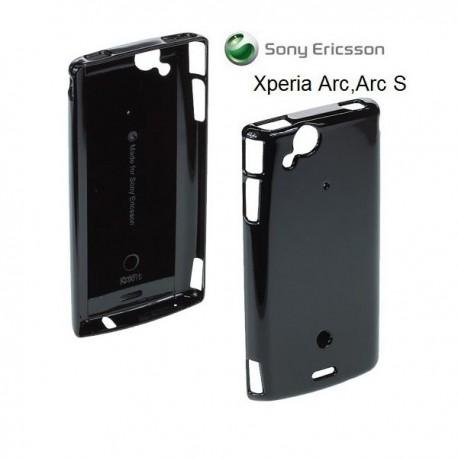 Etui za Sony Xperia Arc, Arc S,zadnji pokrovček,črna barva,Roxfit