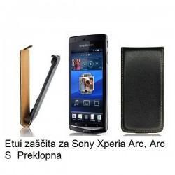 Torbica za Sony Xperia Arc, Arc S,preklopna,črna barva