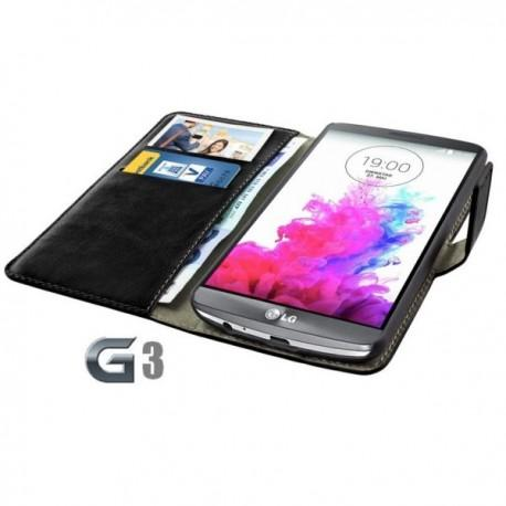 Torbica za LG G3 Preklopna Črna barva+Folija ekrana