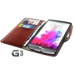 Torbica za LG G3 Preklopna Rjava barva+Folija ekrana