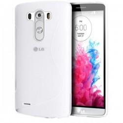 Silikon etui za LG G3 +Folija ekrana, Transparent barva