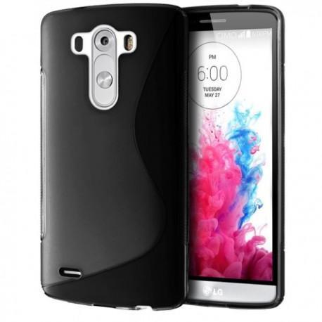 Silikon etui za LG G3 +Folija ekrana, Črna barva