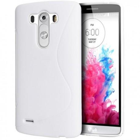Silikon etui za LG G3 +Folija ekrana, Bela barva
