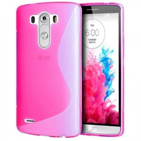 Silikon etui za LG G3 +Folija ekrana, Pink barva