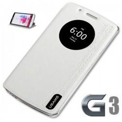 Torbica za LG G3 Preklopna S-View Bela barva