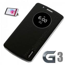 Torbica za LG G3 Preklopna S-View Črna barva