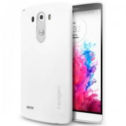 Etui Spigen za LG G3 Ultra Fit zadnji pokrovček Shimmery White+Folija