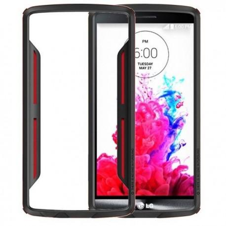 Slim Armor Bumper za LG G3 +Folija ekrana Rdeča barva