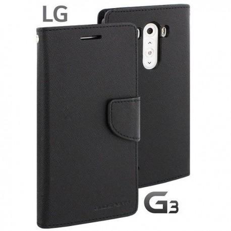 Preklopna Torbica za LG G3 Črna barva