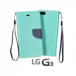 Preklopna Torbica Fancy za LG G3 Mint barva