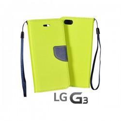 Preklopna Torbica Fancy za LG G3 Limona barva
