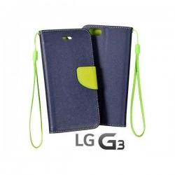 Preklopna Torbica Fancy za LG G3 Modra barva