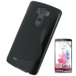 Silikon etui za LG G3 S +Folija ekrana Črna barva