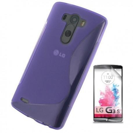 Silikon etui za LG G3 S +Folija ekrana Vijola barva
