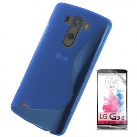 Silikon etui za LG G3 S +Folija ekrana Modra barva