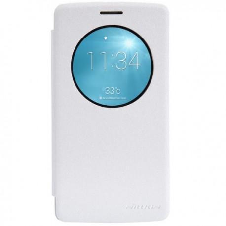 Preklopna Torbica za LG G3 S S-View Bela barva