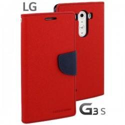 Preklopna Torbica za LG G3 S Rdeča barva