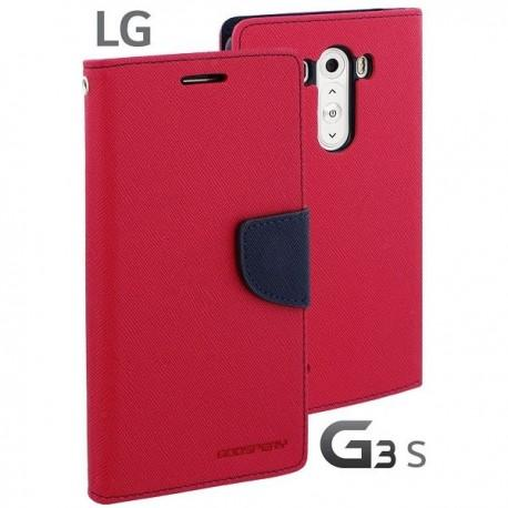 Preklopna Torbica za LG G3 S Pink barva