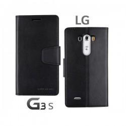 Preklopna Torbica Fancy za LG G3 S Črna barva
