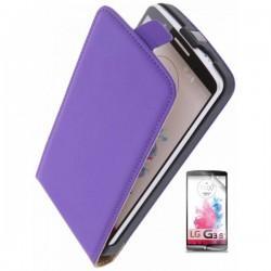 Preklopna Torbica za LG G3 S + zaščitna folija ekrana Vijola barva