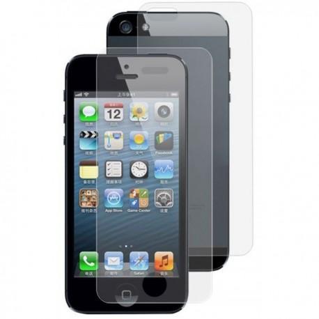 Zaščitno kaljeno steklo za Apple iPhone 5/5S Trdota 9H 0,3 mm Front+Back