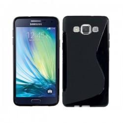 Silikon etui za Samsung Galaxy A5 +Folija ekrana Črna barva