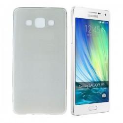 Silikon etui za Samsung Galaxy A5 +Folija ekrana TPU 0,3mm Temna Transparent barva