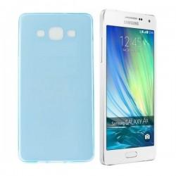 Silikon etui za Samsung Galaxy A5 +Folija ekrana TPU 0,3mm Modra Transparent barva