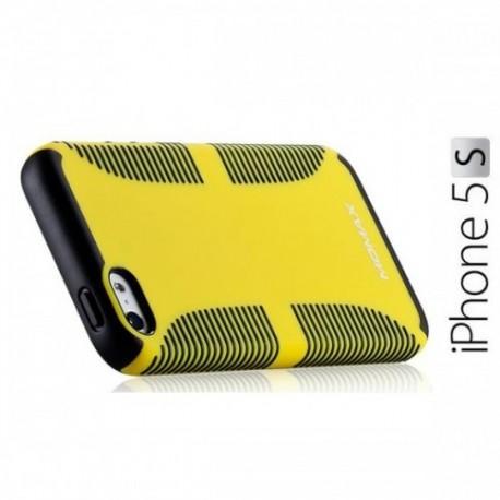 iCase Jack za Apple iPhone 5/5S ,zadnji pokrovček Rumena barva+Folija