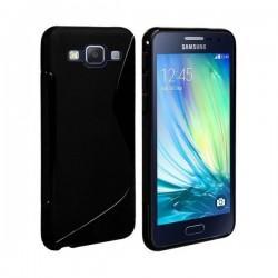 Silikon etui za Samsung Galaxy A3 +Folija ekrana Črna barva