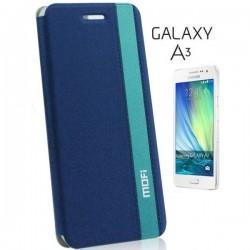 Preklopna Torbica Mofi za Samsung Galaxy A3 Temno modra barva