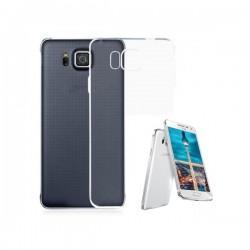 Silikon etui za Samsung Galaxy Alpha +Folija ekrana TPU 0,3mm Transparent barva