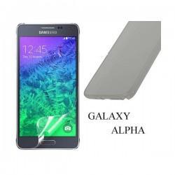 Silikon etui za Samsung Galaxy Alpha +Folija ekrana TPU 0,3mm Transparent-Temna barva