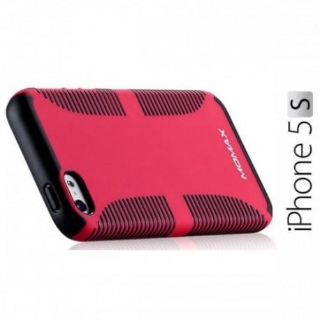 iCase Jack za Apple iPhone 5/5S ,zadnji pokrovček Rdeča barva+Folija