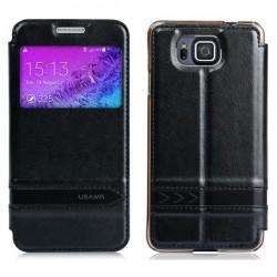Torbica USAMS za Samsung Galaxy Alpha Preklopna S-View Črna barva