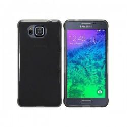Silikon etui za Samsung Galaxy Alpha +Folija ekrana Temna barva