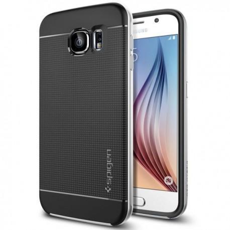 Spigen Etui za Samsung Galaxy S6 Neo Hybrid zadnji pokrovček Spigen Satin Silver
