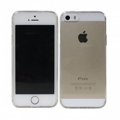 Silikon etui za Apple iPhone 5/5S TPU 0,3mm Transparent barva+Folija ekrana
