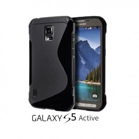 Silikon etui za Samsung Galaxy S5 Active +Folija ekrana Črna barva