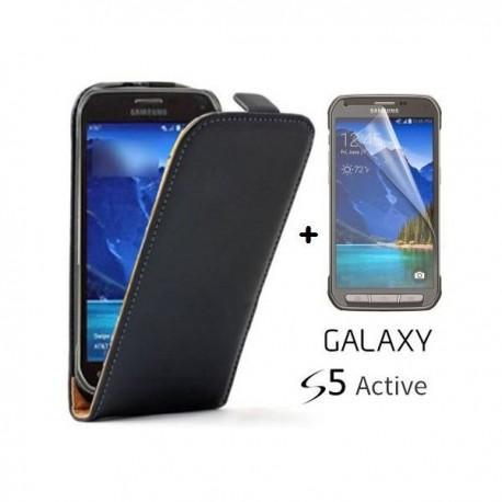 Preklopna Torbica za Samsung Galaxy S5 Active Črna barva+Folija ekrana