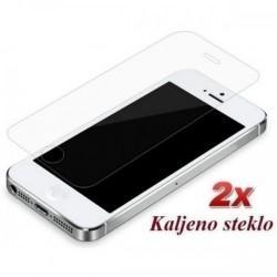 Zaščitno kaljeno steklo za Apple iPhone 5S/5 5C Trdota 9H, 0,3 mm Duo Pack Premium