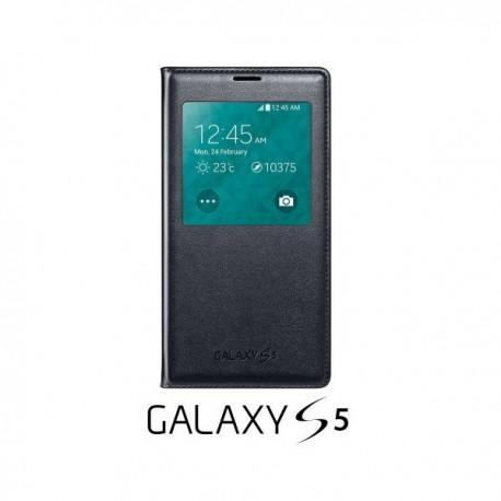 Torbica za Samsung Galaxy S5 Original S-View Cover EF-CG900BBEGWW Črna barva