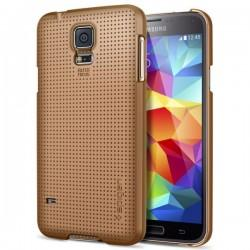 Etui za Samsung Galaxy S5 Ultra Fit zadnji pokrovček Spigen Copper Gold
