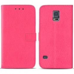 Torbica za Samsung Galaxy S5 Preklopna Pink barva+Folija ekrana