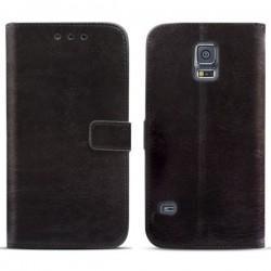 Torbica za Samsung Galaxy S5 Preklopna Črna barva+Folija ekrana