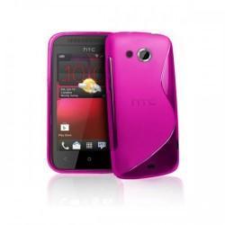 Silikon etui za HTC Desire 200 +zaščitna folija ,Pink barva
