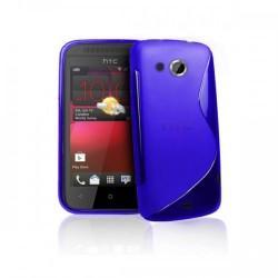 Silikon etui za HTC Desire 200 +zaščitna folija ,Modra barva